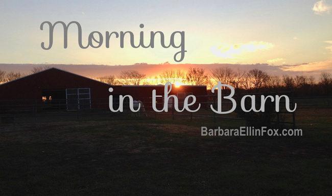 morning BarbaraEllinFox.com